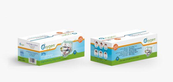 ماسک 3 لایه کودک اکسیژن